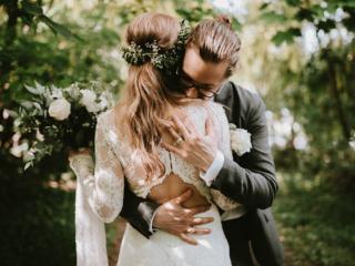 Bohemian Claire Pettibone Norway wedding elopement couple photographer