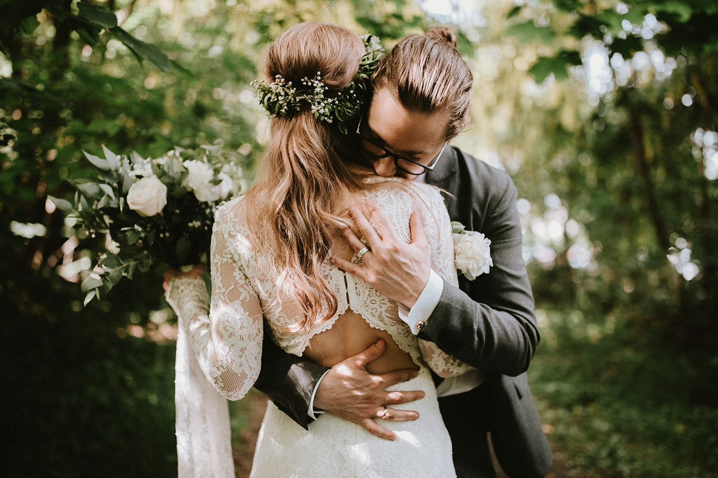 Bohemian Claire Pettibone Norway wedding elopement couple photographer