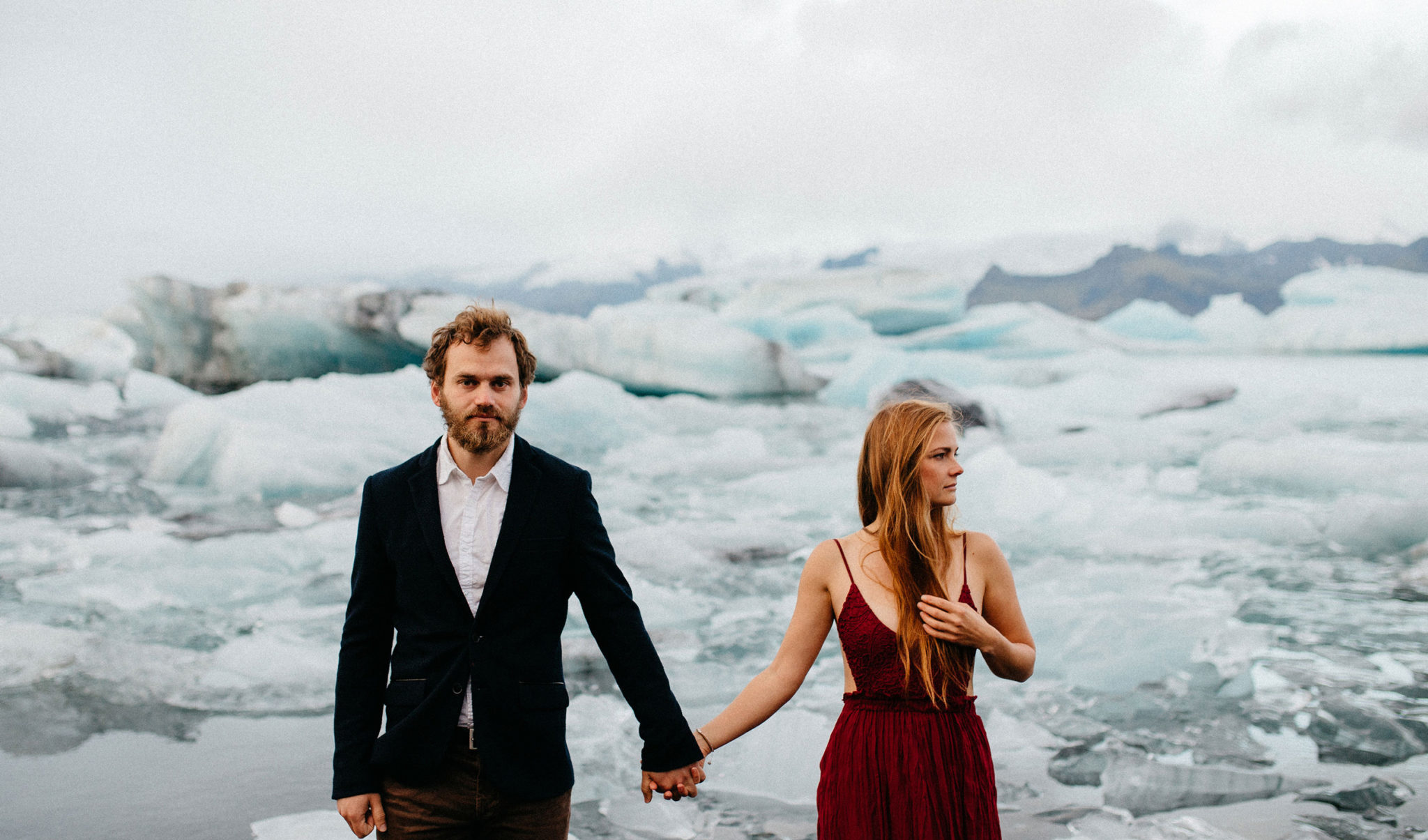 Iceland Jökulsárlón Glacier Lagoon Elopement wedding photographer